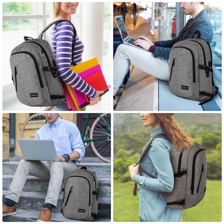 Mancro Water-Resistant Laptop Backpack