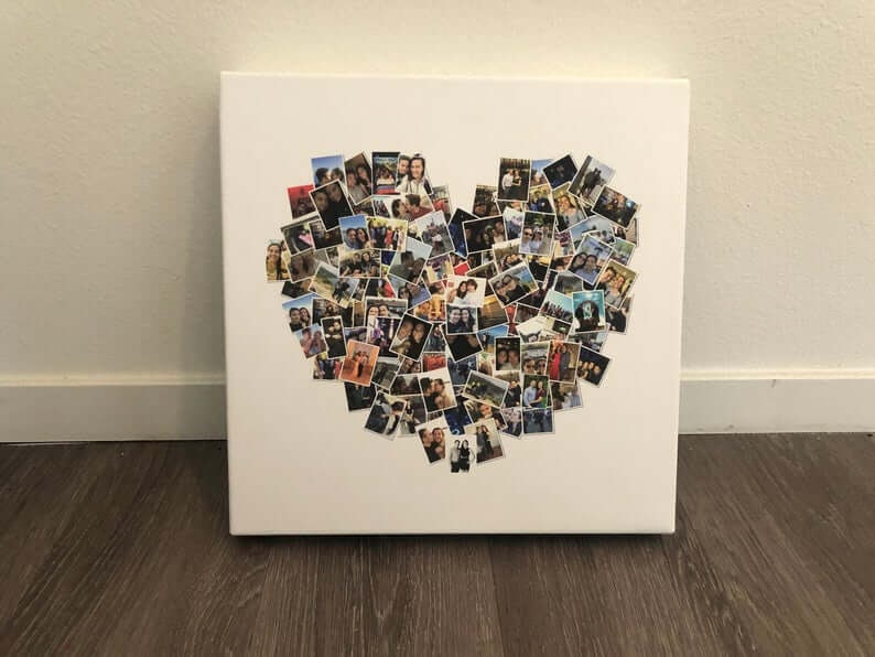 Heart-Shaped Photo Collage