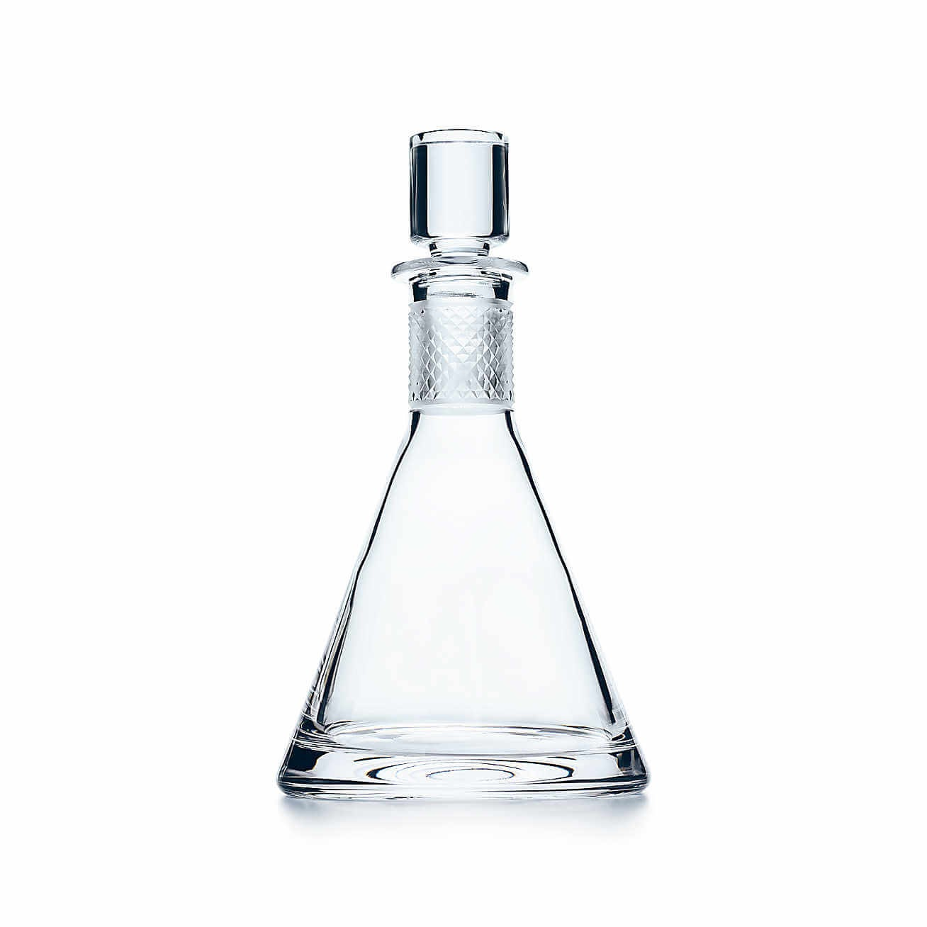 Tiffany & Co. Diamond Point Conical Decanter