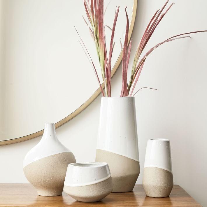 Hand-Dipped Stoneware Vases