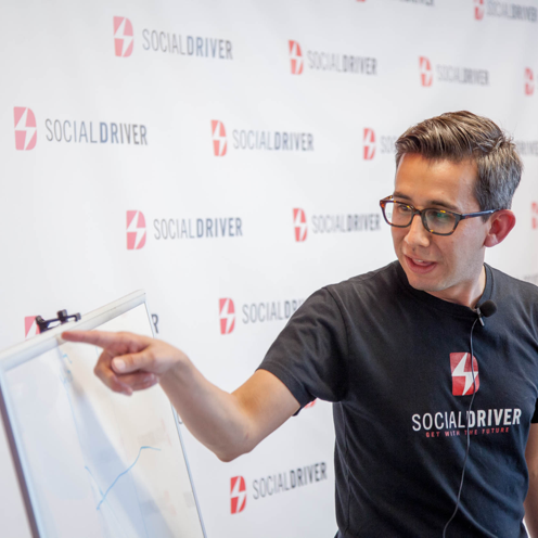CEO Thomas Sanchez presenting