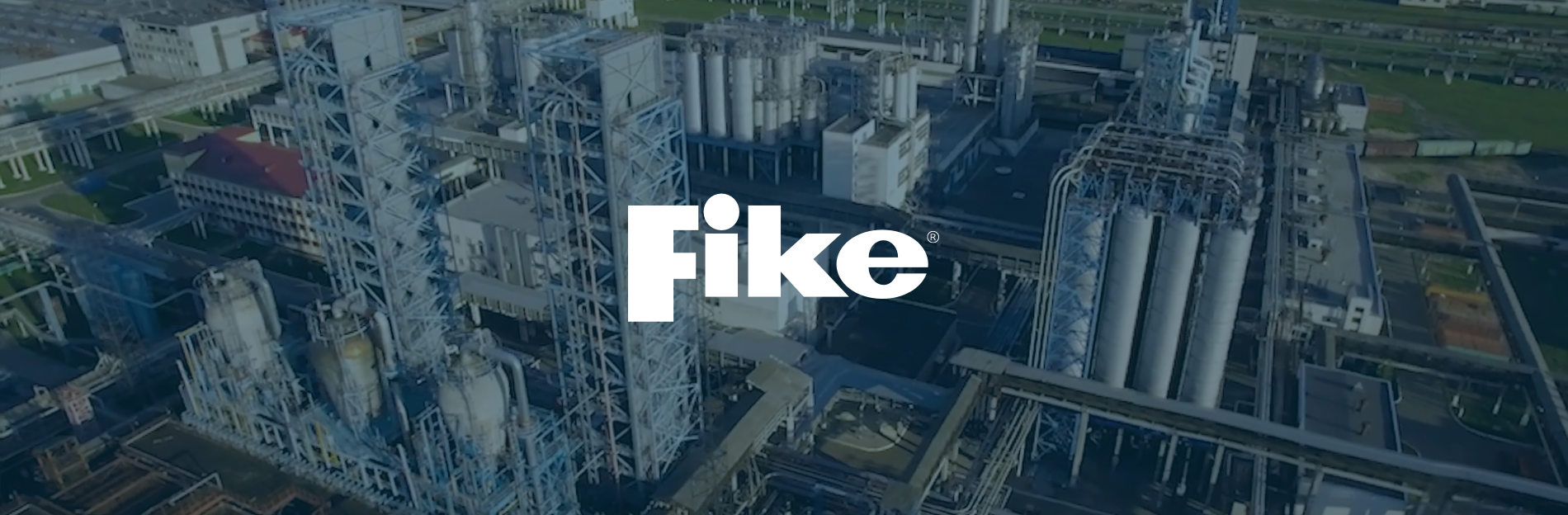 Fike logo on industrial background