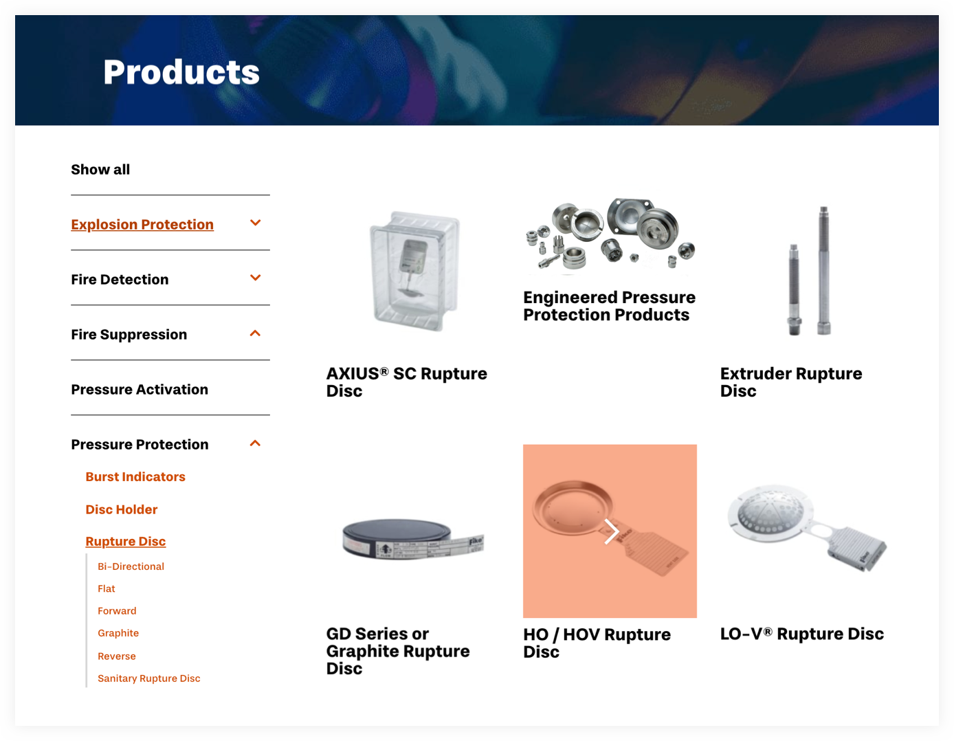 Fike's digital product catalog