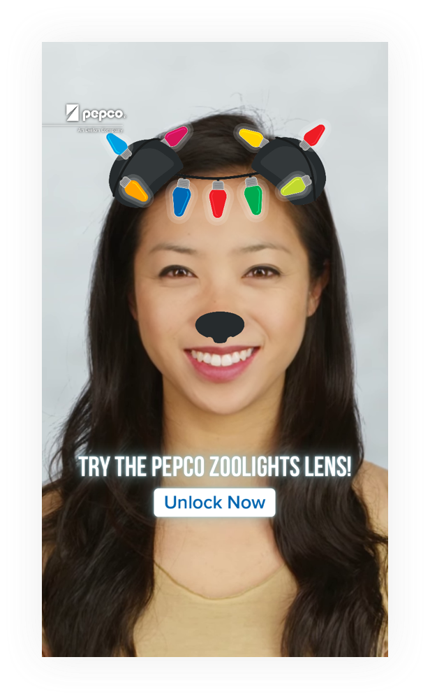 Pepco snapchat filter in use