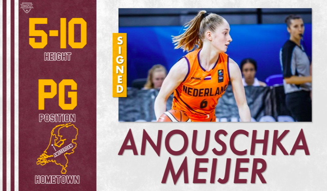 Anouschka Meijer has signed a National Letter of Intent with the Iona College Women's  Basketball Program.
