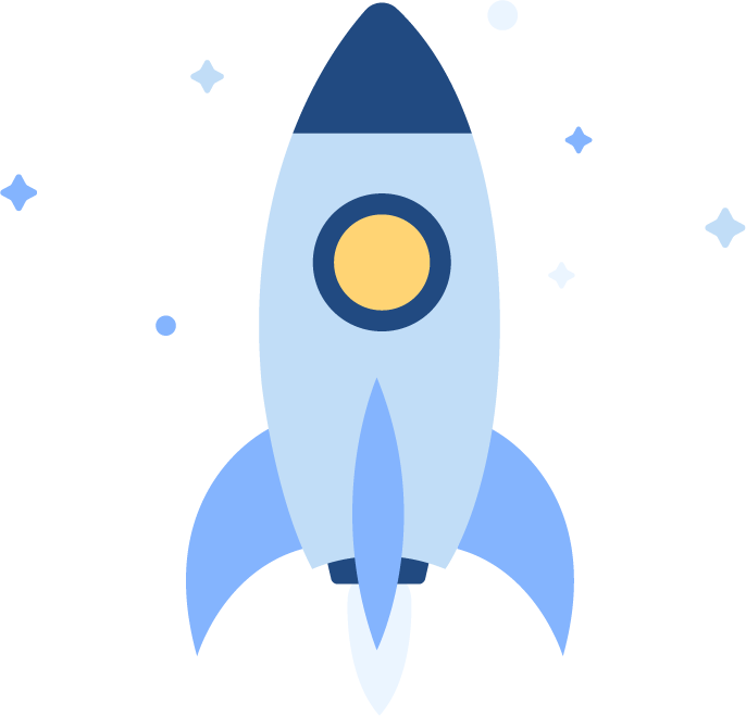 A picture of a rocket