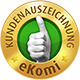 Goldenes eKomi-Siegel für Finanzchef24