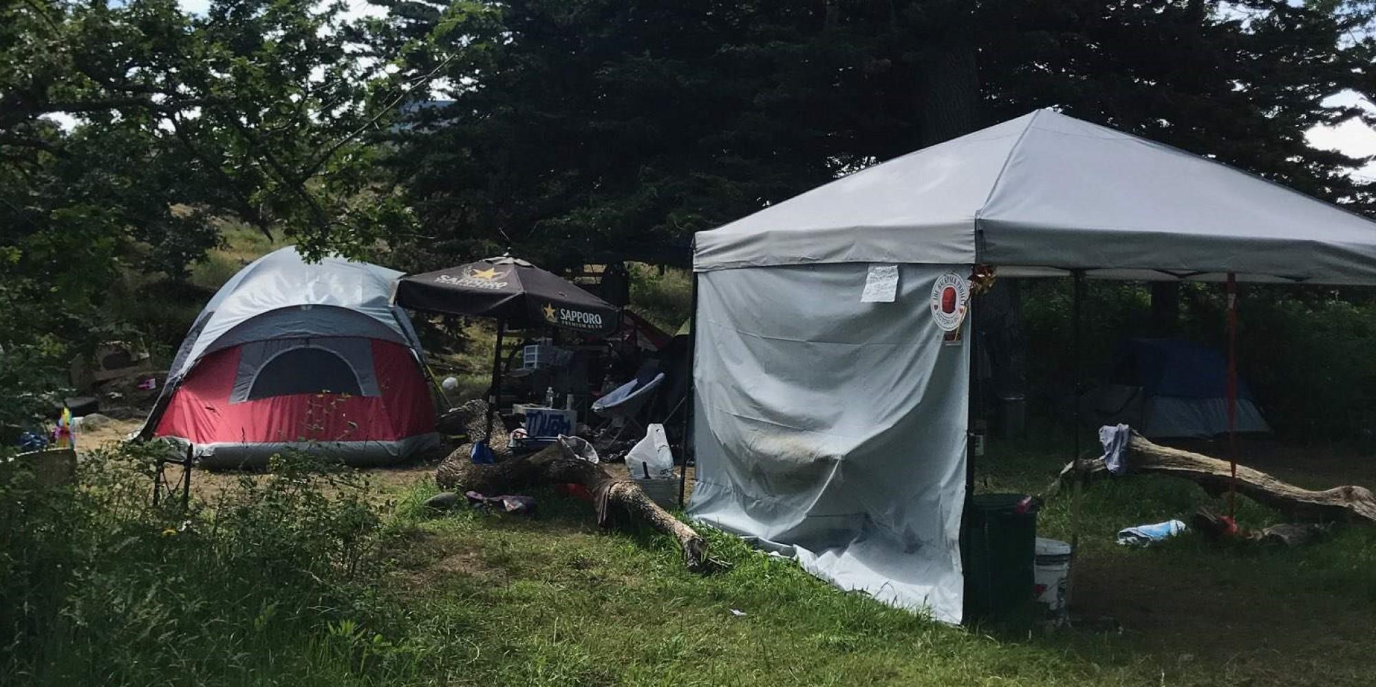 City Worried About Beacon Hill Tent Encampments Hurting Garry Oaks, Lekwungen Sites