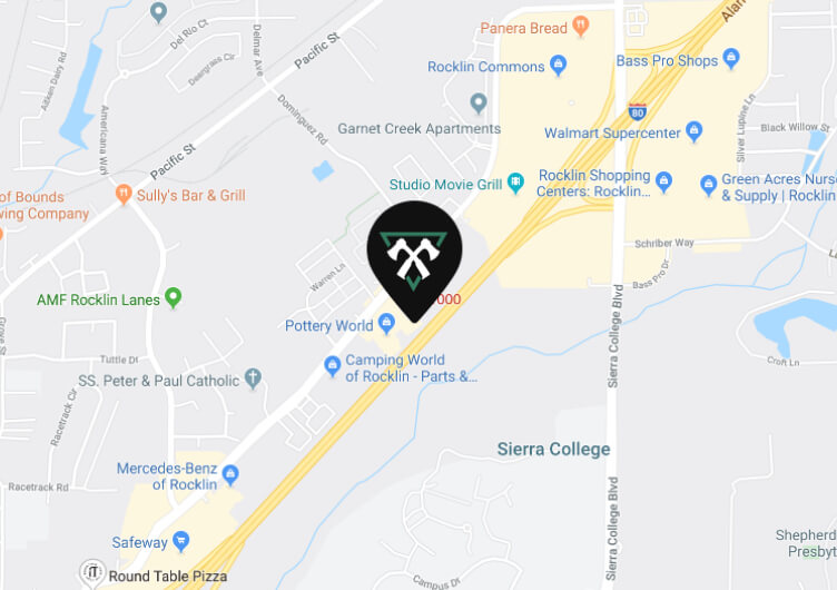 Map showing our location off highway 80 and Sierra College Blvd.
