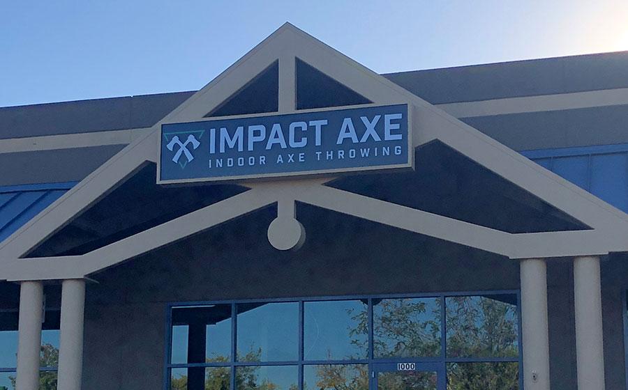 Exterior of Impact Axe in Rocklin Emporium