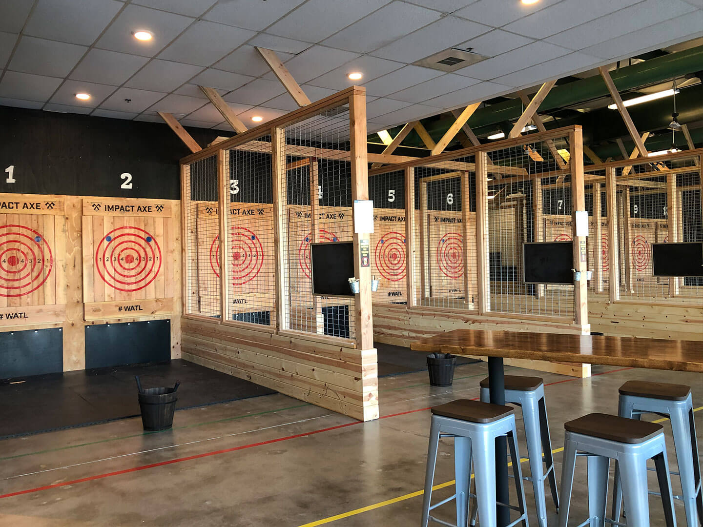 Axe throwing lanes