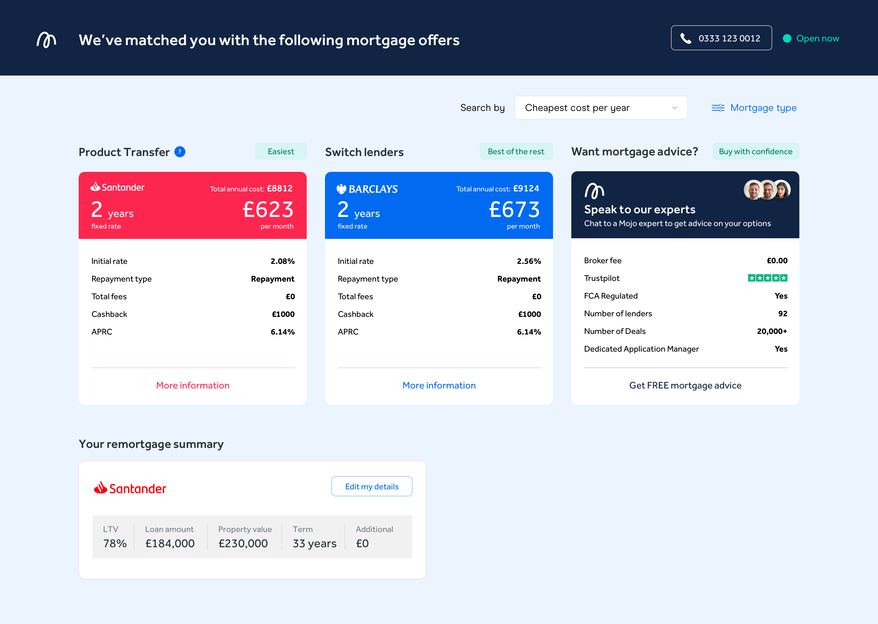 Remortgaging with the same lender. Product transfer with Mojo