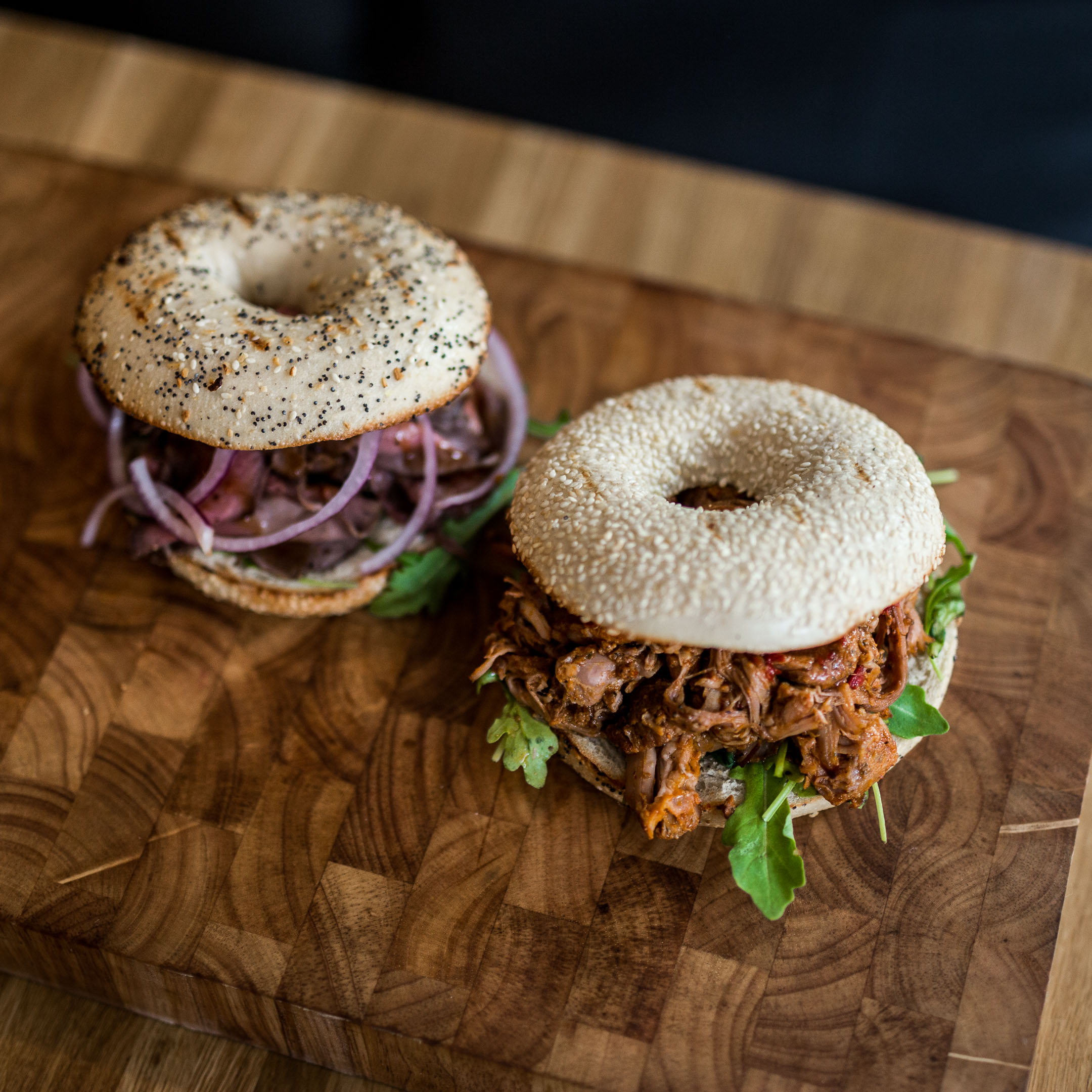 Bagelburgare med Oumph