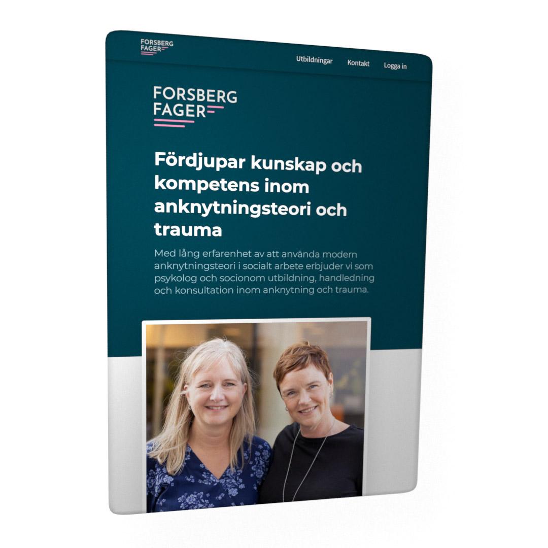 Forsberg Fager webbplats