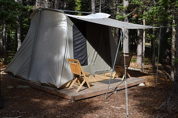 Camp platform tent