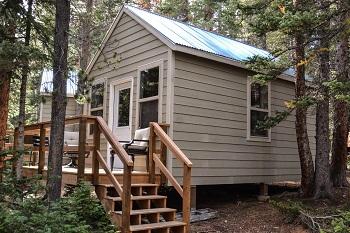 Camp summer cabins