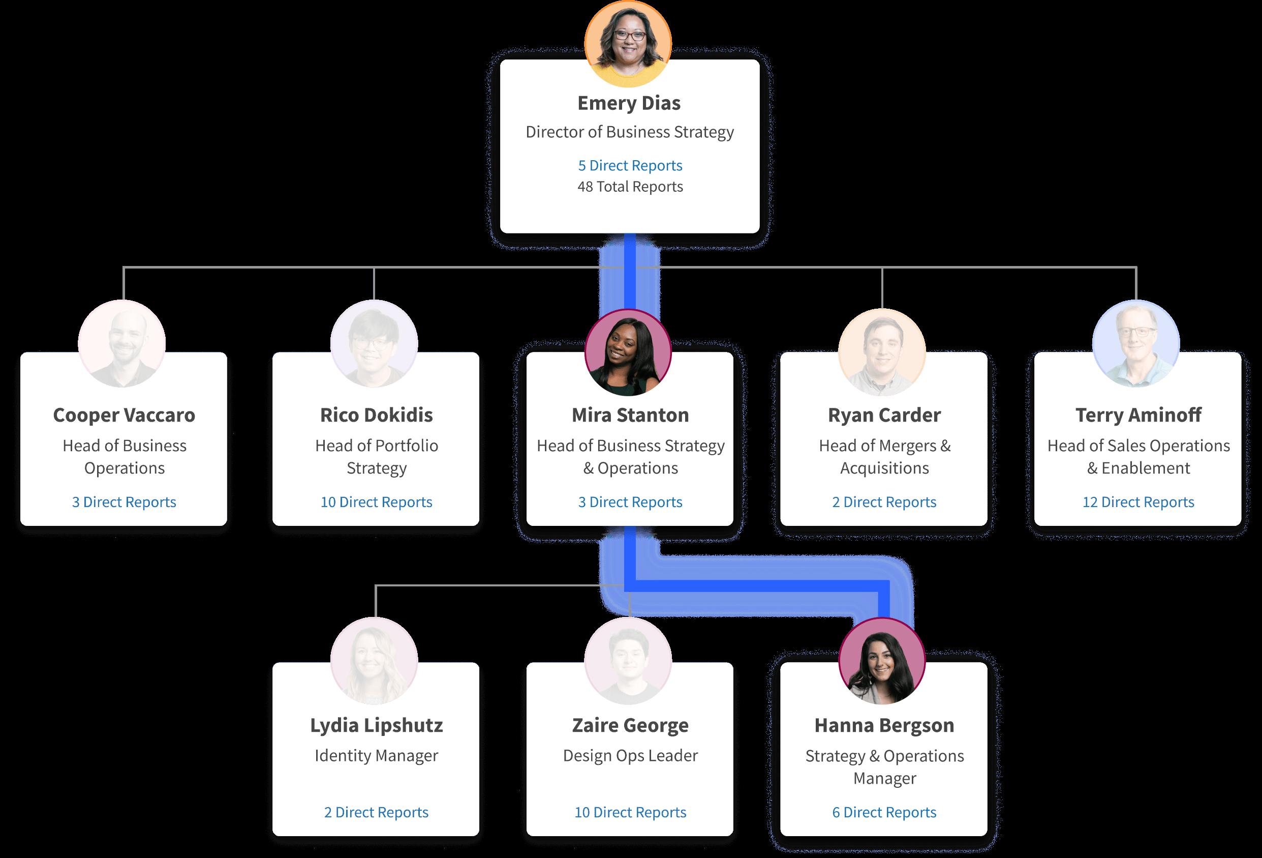 organizational chart of a company