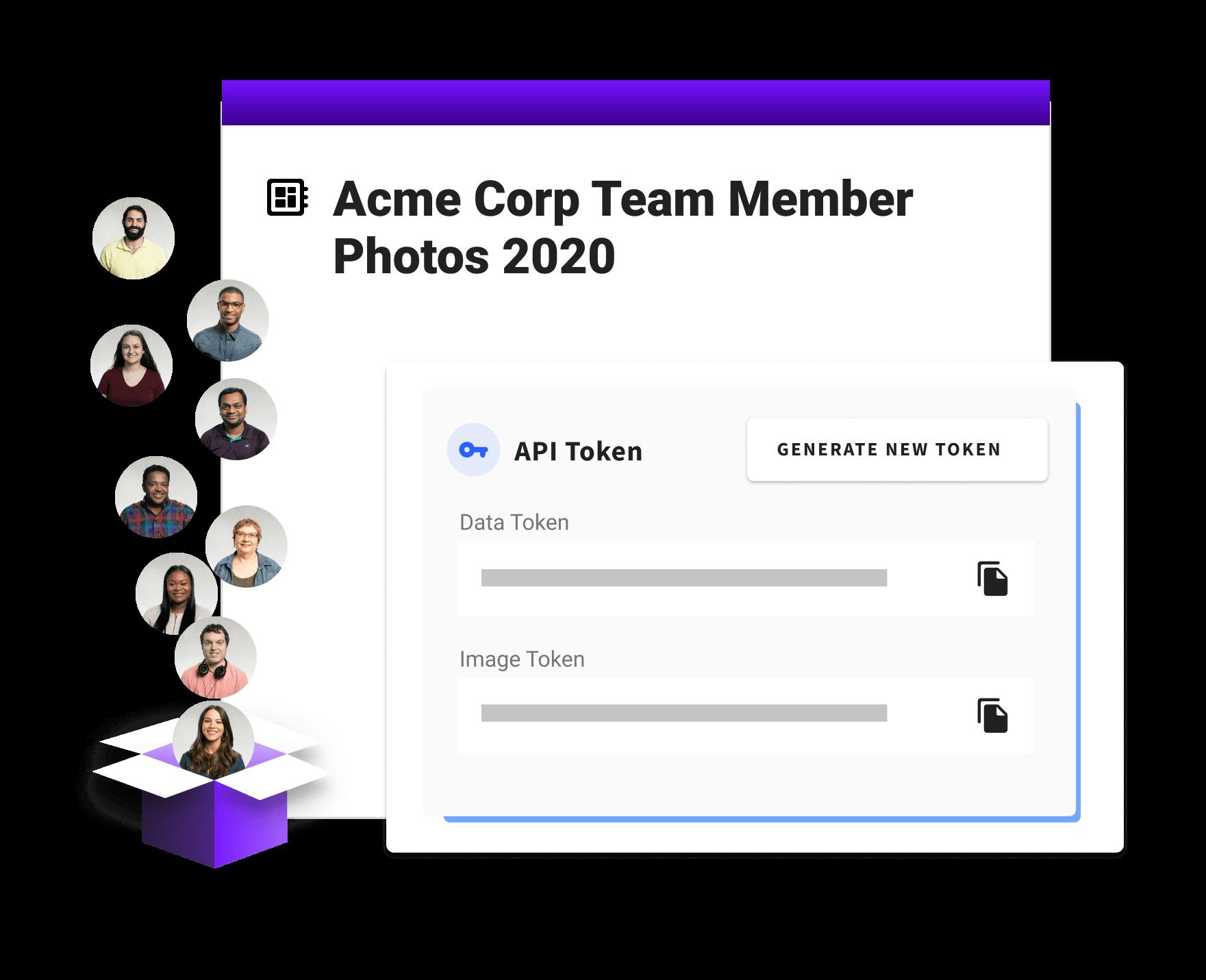 API token gathering profile photos