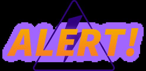 Alert warning sign