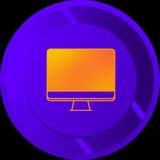Org chart on desktop computer