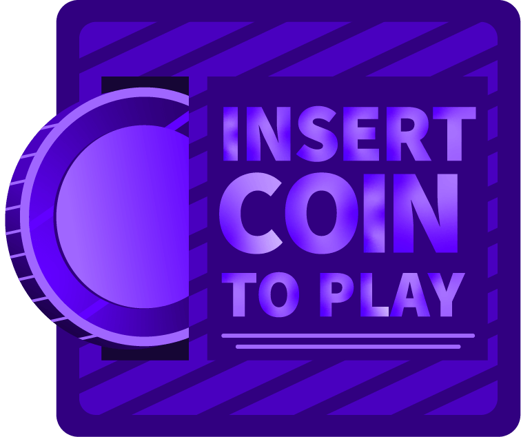 Insert coin to play on a pinball machine