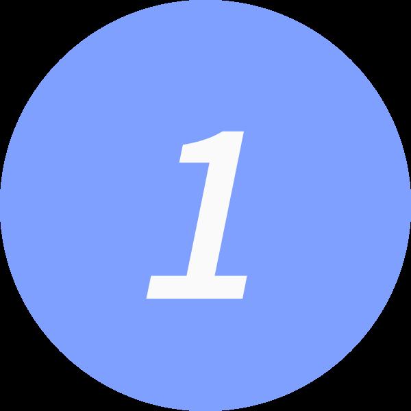 1 inside a circle