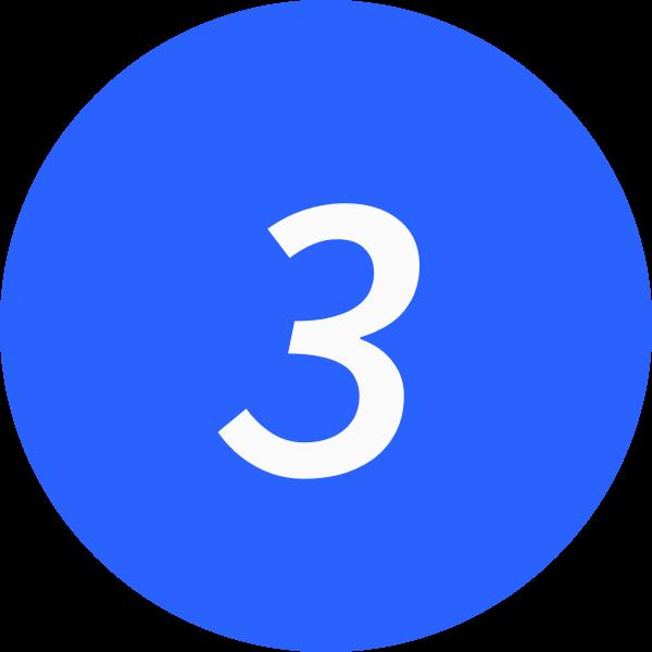 3 inside a circle