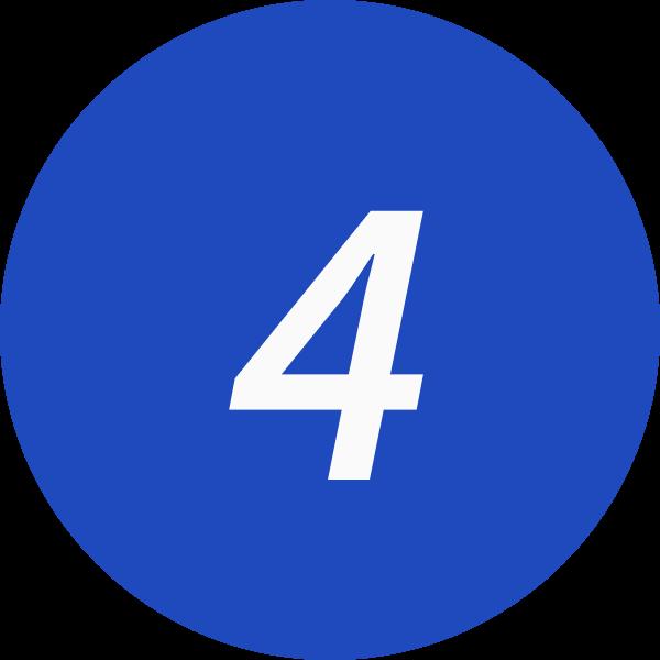 4 inside a circle