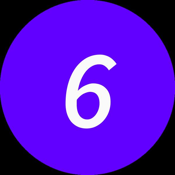6 inside a circle