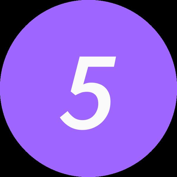 5 inside a circle