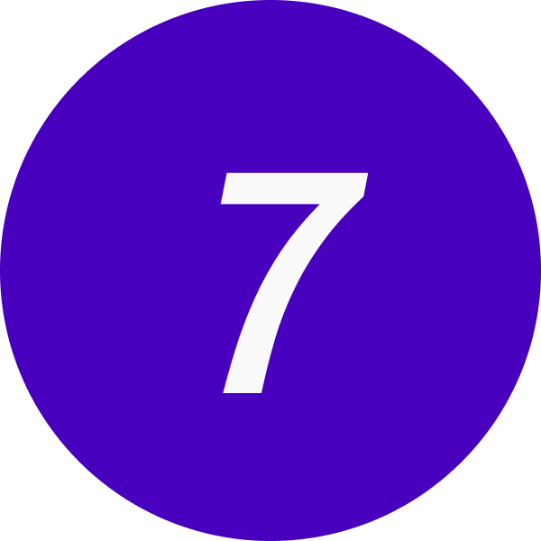 7 inside a circle