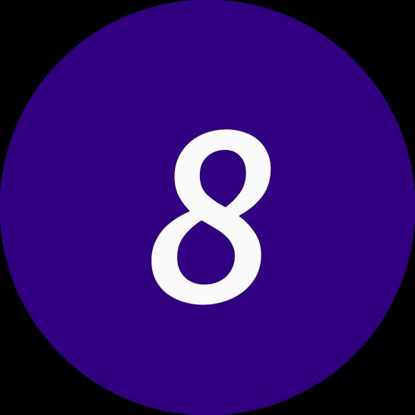 8 inside a circle