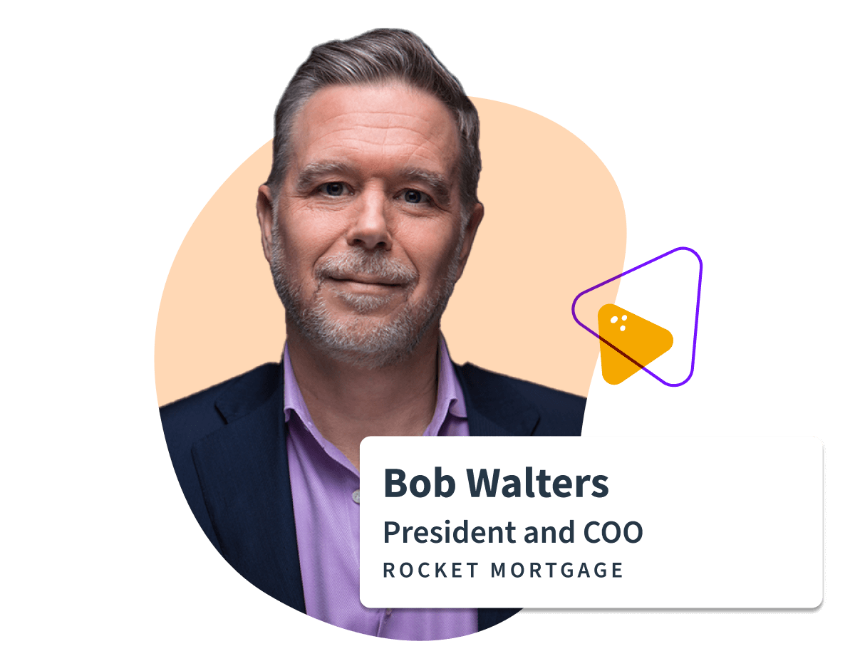 Sift testimonial for bob walters COO/President at Rocket Mortgage