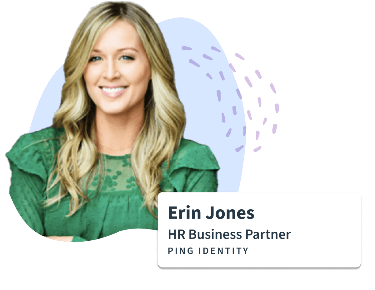 Sift testimonial for Erin Jones HR partner at ping identity