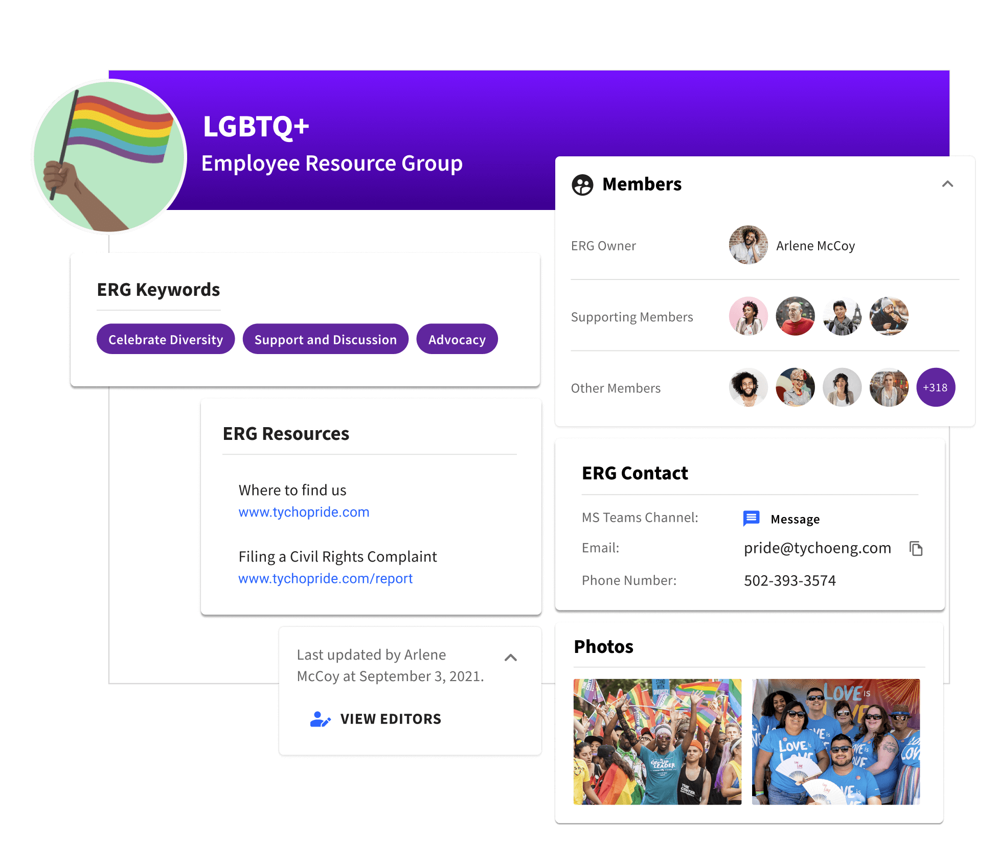 A profile for an employee resource group