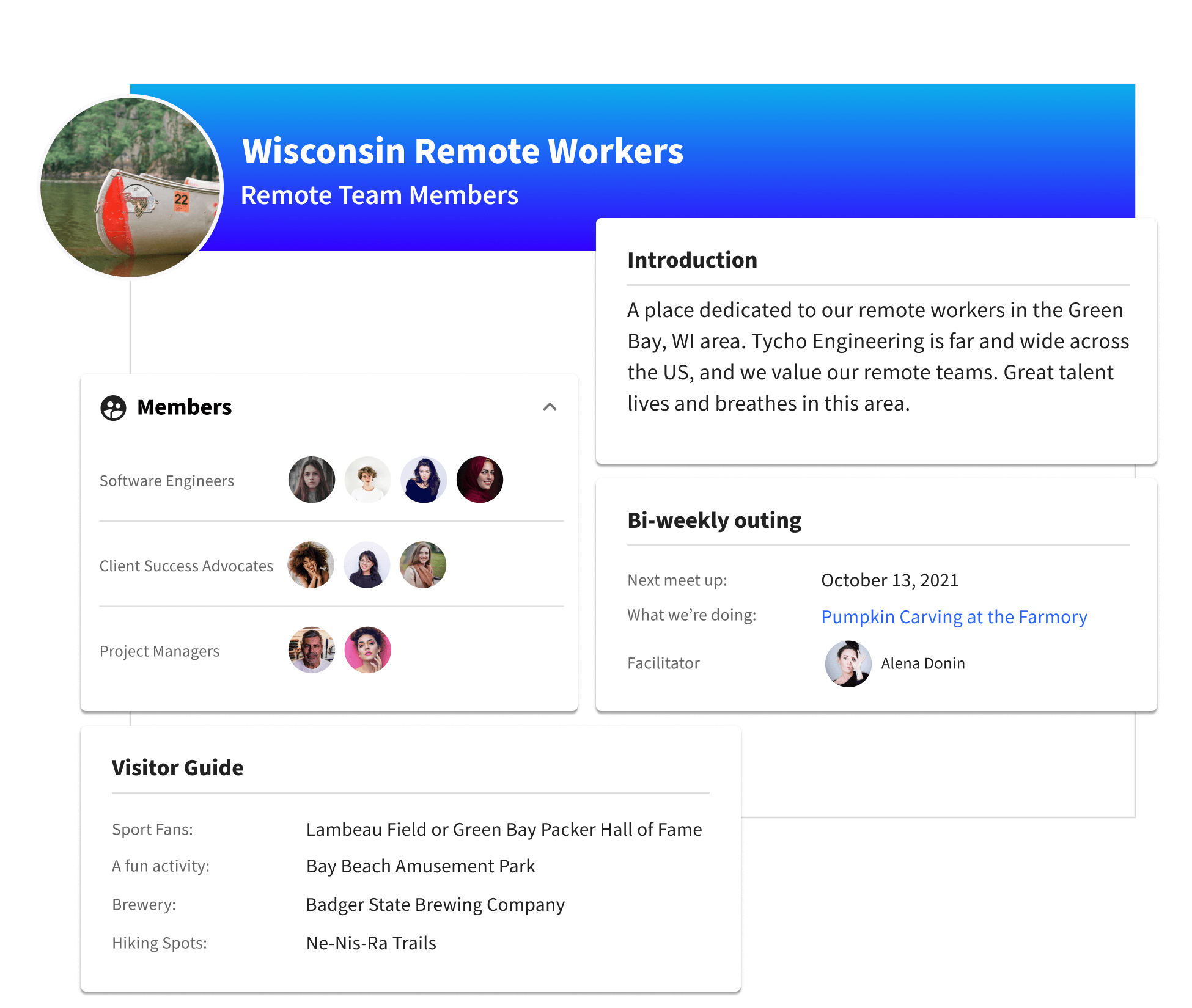 A profile for remote workers in a specific area