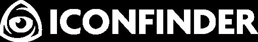 Iconfinder logo dark background