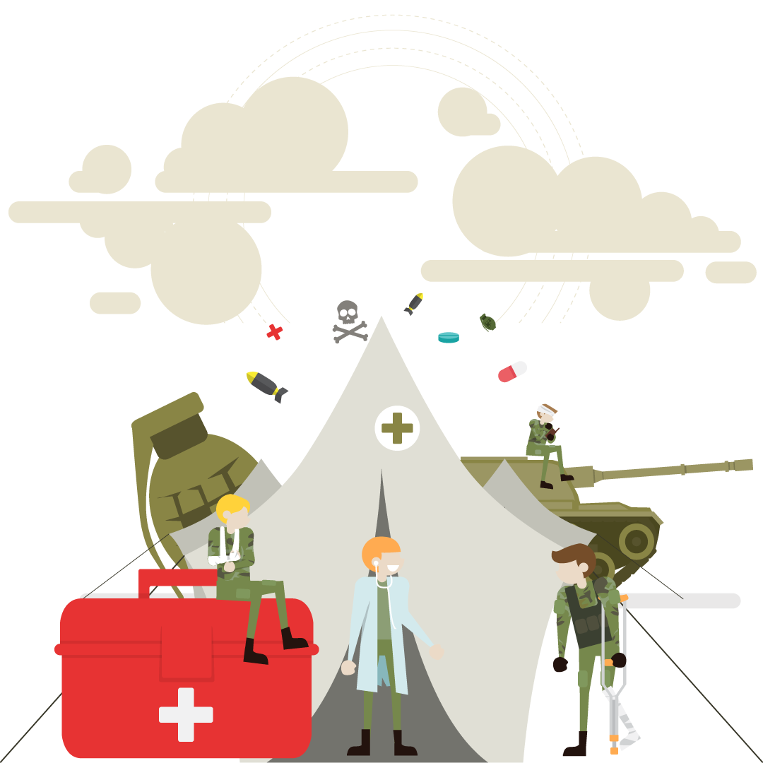 A war illustration