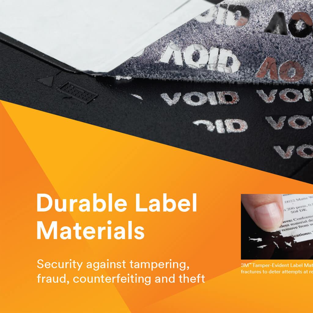 3M: Tamper Evident Durable Labels