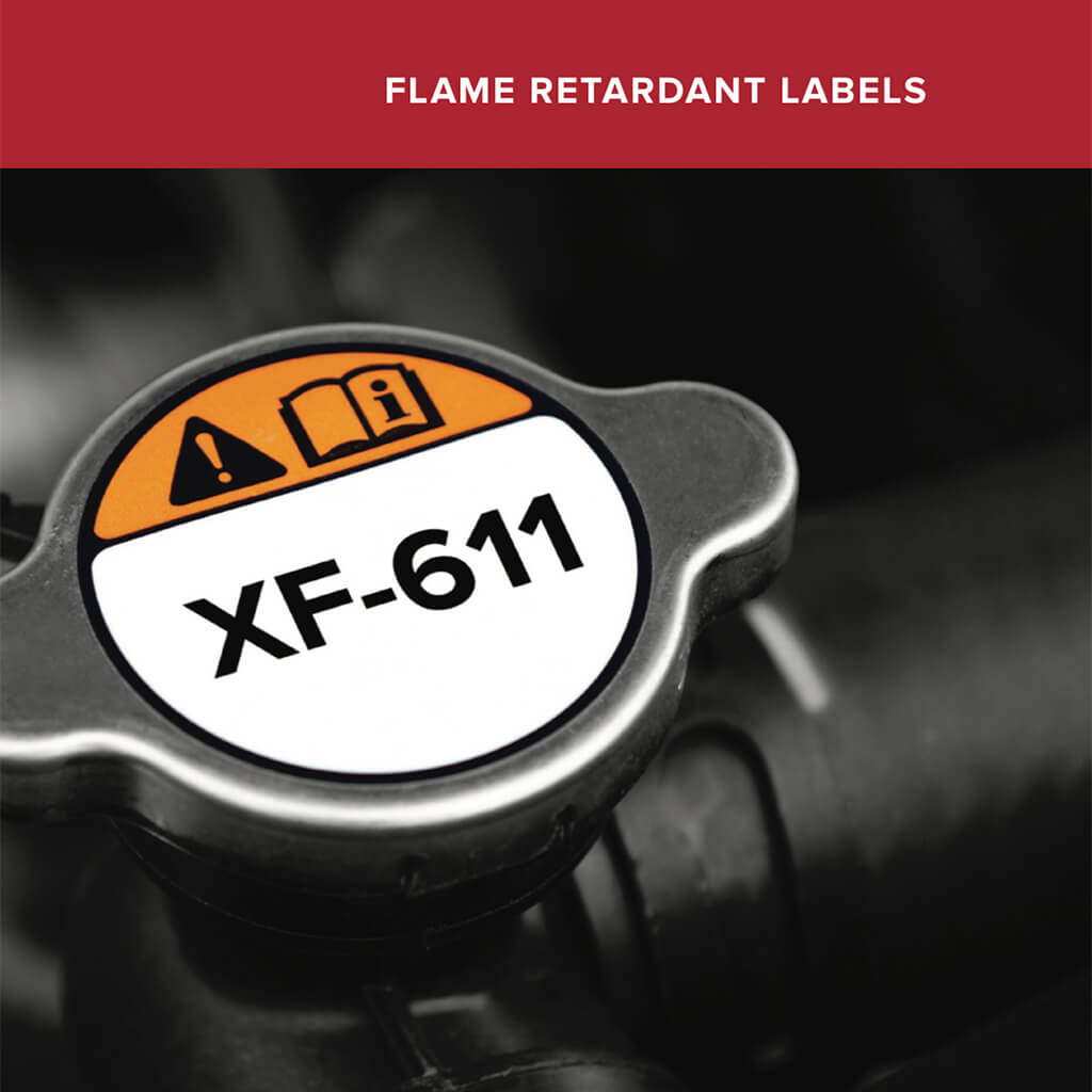Polyonics: Flame Retardant Labels
