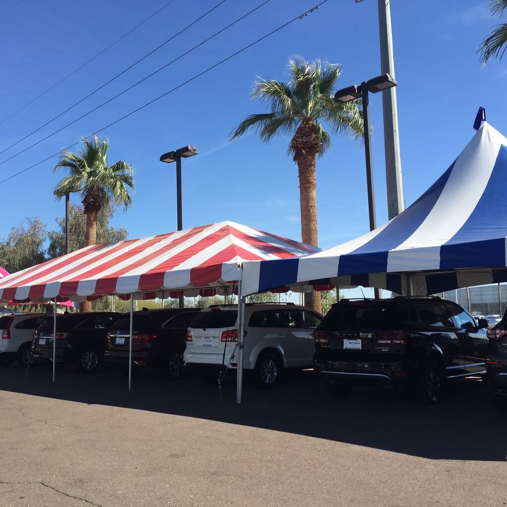 Pole tent rentals in Arizona
