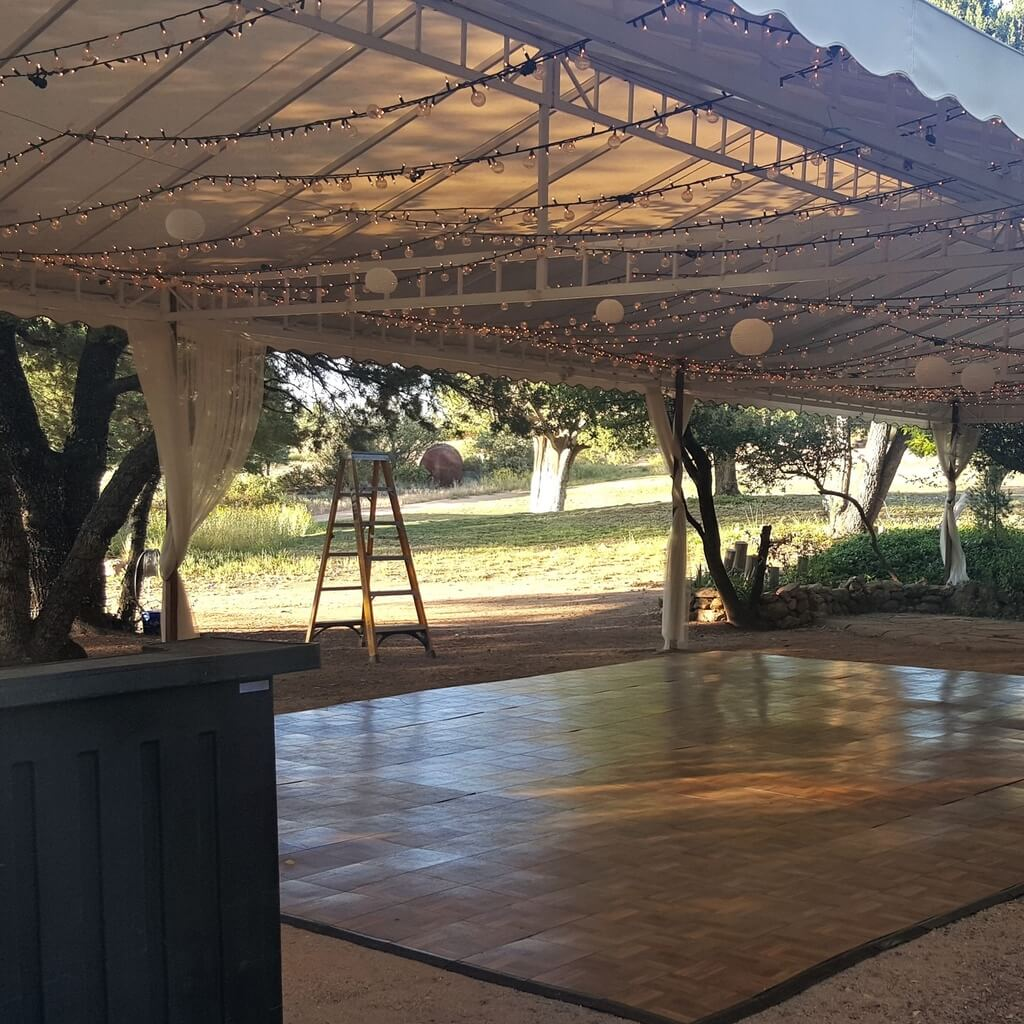 Tent staging and flooring rentals in Arizona