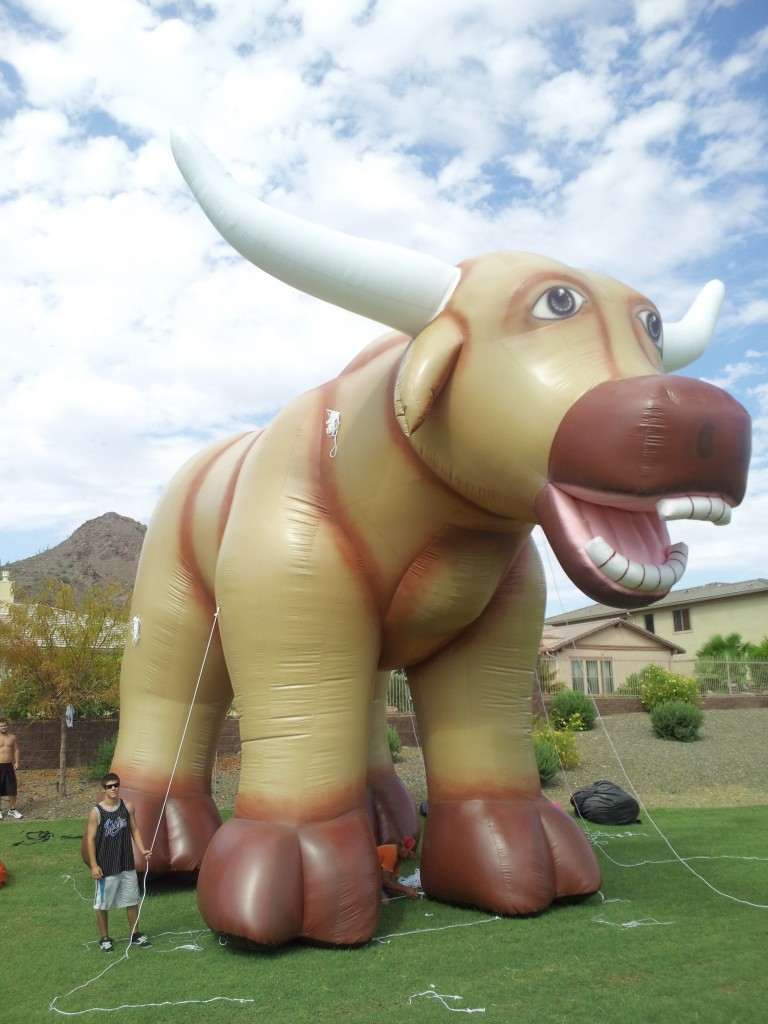 Giant Inflatable Bull Character