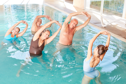 What are some good water aerobics exercises