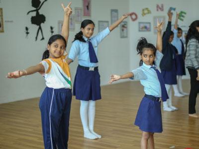 Co Curricular activity.  CBSE Students learning dance at GIIS Dubai