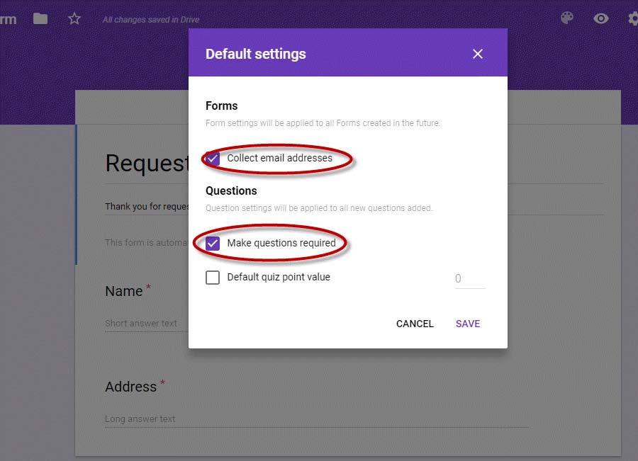 Yard Sign Tutorial: Google Form Settings
