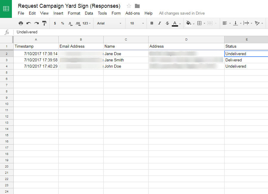 Yard Sign Tutorial: Submitted Map Data