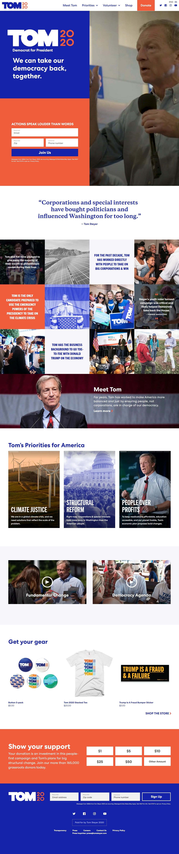 Homepage Snapshot for November 1, 2019: Businessperson Tom Steyer