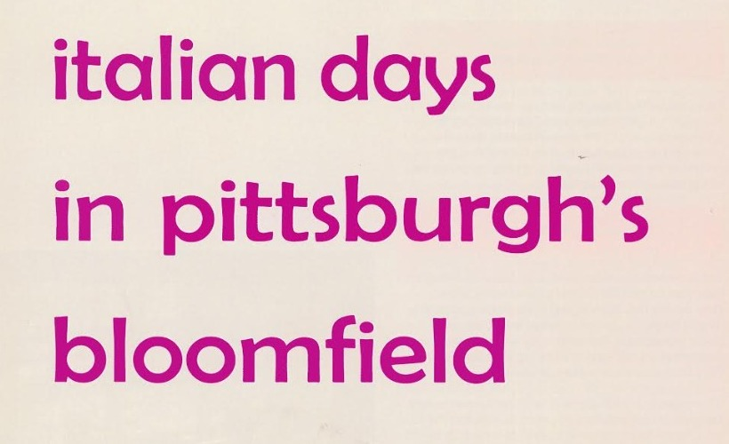 Italian Days in Pittsburgh's Bloomfield