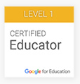 Level 1 Certified Educator badge from Google